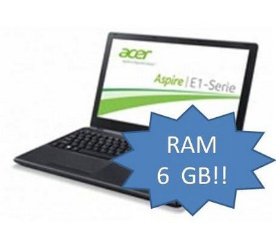 ACER NOTEBOOK E1-530-21174G50MNKK (NX.MEQET.001) UPGRADE 6GB